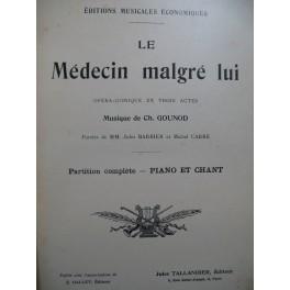 GOUNOD Charles Le Médecin malgré lui Opéra Piano Chant XIXe