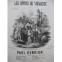 HENRION Paul Les Bâtons de Vieillesse Chant Piano 1855