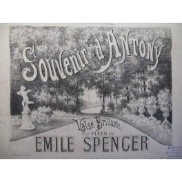 SPENCER Emile Souvenir d'Antony piano