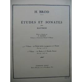 BROD H. 40 Etudes et 6 Sonates Hautbois 1951