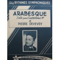 DEVEVEY Pierre Arabesque Piano Saxophone 1955