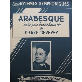 DEVEVEY Pierre Arabesque Piano Saxophone 1955