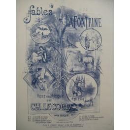 LECOCQ Charles Le Savetier et le Financier Fable La Fontaine Chant Piano XIXe