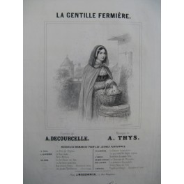 THYS A.La Gentille Fermière Chant Piano ca1840
