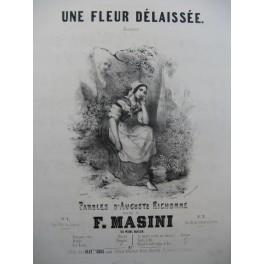 MASINI Francesco Une Fleur Délaissée Chant Piano ca1845