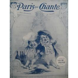 Paris qui chante Chansons du Vin de France Chant Piano 1905