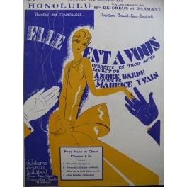 YVAIN Maurice Honolulu Chant Piano 1929