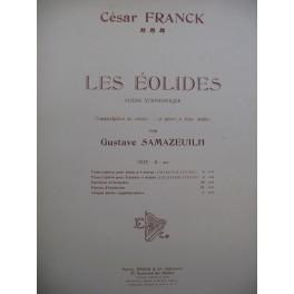 FRANCK César Les Éolides Poème Symphonique Piano 1912