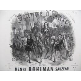 BOHLMAN SAUZEAU Henri Jeanne d'Arc Quadrille Piano ca1844