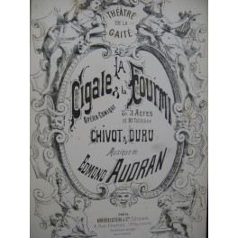 AUDRAN Edmond La Cigale et la Fourmi Opéra Chant Piano 1887