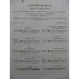 MÉHUL Valentine de Milan No 1 Chant Piano 1822