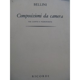 BELLINI Vincenzo Composizioni da camera Chant Piano 1966