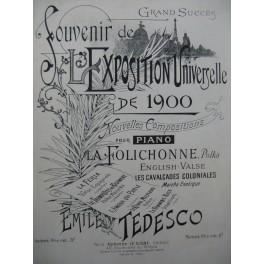 TEDESCO Emile Les Cavalcades Coloniales Piano ca1900