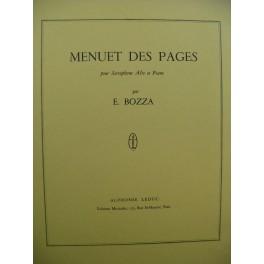 BOZZA Eugène Menuet des Pages Saxophone Piano 1964