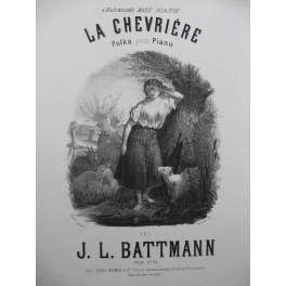 BATTMANN Jacques Louis La Chevrière Piano ca1868