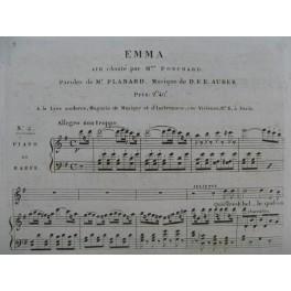 AUBER D. F. E. Emma No 2 Chant Piano ou Harpe ca1821