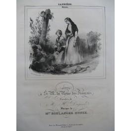 BOULANGER Kunze La Prière Chant Piano ca1840