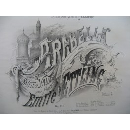 ETTLING Emile Arabella Piano ca1870