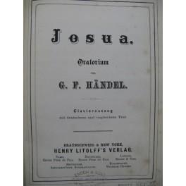 HAENDEL G. F. Josua Oratorium Chant Piano XIXe