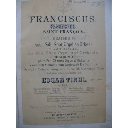 TINEL Edgar Franciscus Opéra Chant Piano ca1890