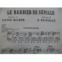 PAISIELLO Giovanni Le Barbier de Séville Opéra Chant Piano XIXe