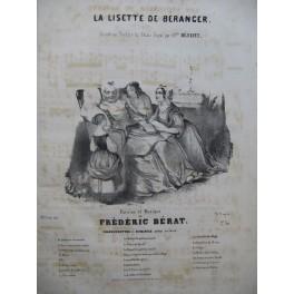 BERAT Frédéric La Lisette de Béranger Chant Piano ca1840