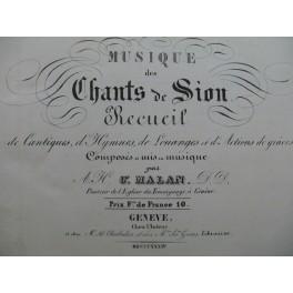MALAN César Musique des Chants de Sion Recueil Chant Orgue 1834