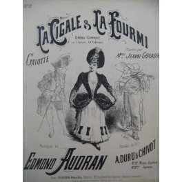 AUDRAN Edmond La Cigale et La Fourmi No 12 Chant Piano ca1887