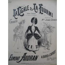 AUDRAN Edmond La Cigale et La Fourmi No 12 Chant Piano ca1887