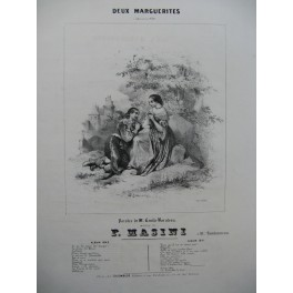 MASINI Francesco Deux Marguerites Chant Piano ca1840