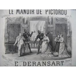 DERANSART Edouard Le Manoir de Pictordu Piano ca1875