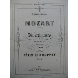 LE COUPPEY Félix Mozart Divertimento Piano ca1860