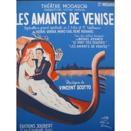 SCOTTO Vincent Les Amants de Venise Opérette Chant Piano 1953