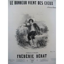 BÉRAT Frédéric Le Bonheur vient des cieux Nanteuil Chant Piano 1849
