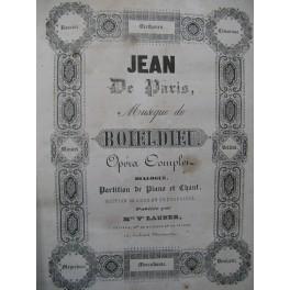 BOIELDIEU Adrien Jean de Paris Opéra Chant Piano ca1845