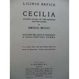 REFICE Licinio Cecilia Opéra Chant Piano 1947