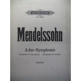 MENDELSSOHN BARTHOLDY Félix Symphonie A dur orchestre