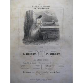 CHERET P. La Voile égarée chant piano ca1850