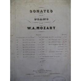 MOZART Wolfgang Amadeus Sonate 17 piano 1859