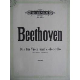 BEETHOVEN Ludwig van Duo pour alto et violoncelle