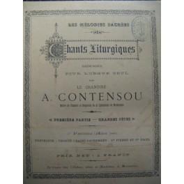 CONTENSOU A. Chants liturgiques orgue 1899