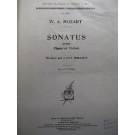 MOZART Wolfgang Amadeus Sonates violon piano