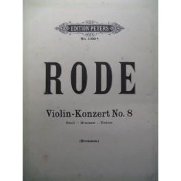 RODE Pierre Concerto n° 8 violon piano