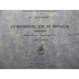 SCHUBERT Franz Symphonie Si min piano 4 mains