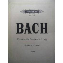 BACH Jean Sébastien Chromatic Fantasy and Fugue piano