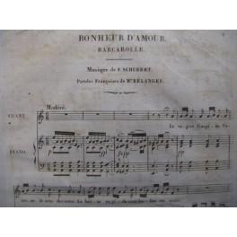 SCHUBERT Franz Bonheur d'amour chant piano 1842