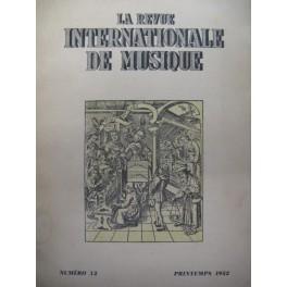 La Revue Internationale de Musique n° 12 1952