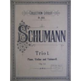 SCHUMANN Robert Trio I op. 63 Rém