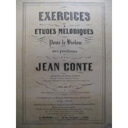 CONTE Jean Exercices et Etudes pour violon