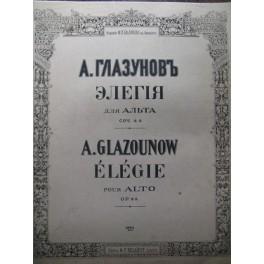 GLAZOUNOW A. Elégie Alto piano